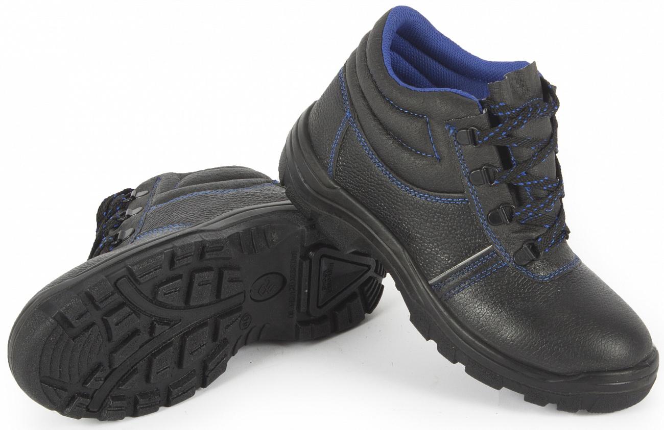 Ботинки рабочие кожаные Лидер с металлоподноском 12