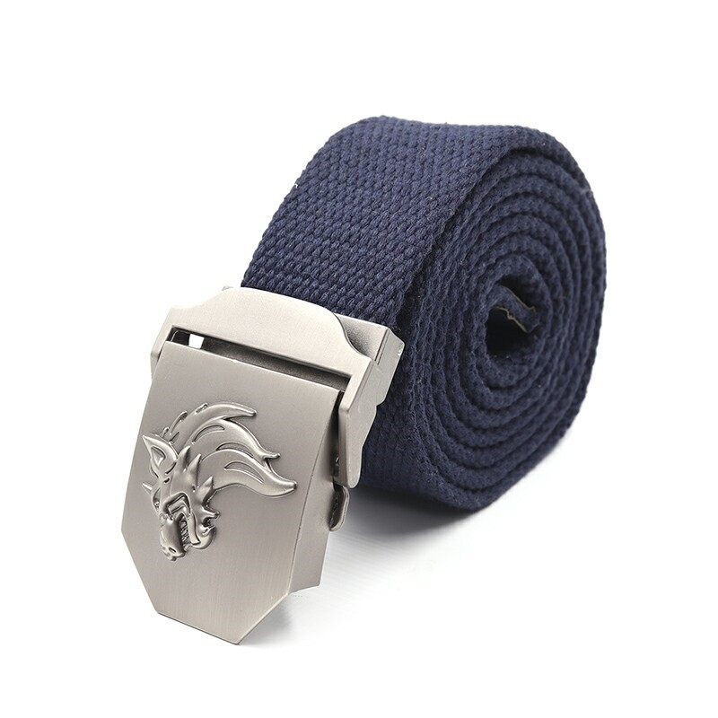 Ремень СЛЕДОПЫТ Волк 1400*36 мм текстиль синий