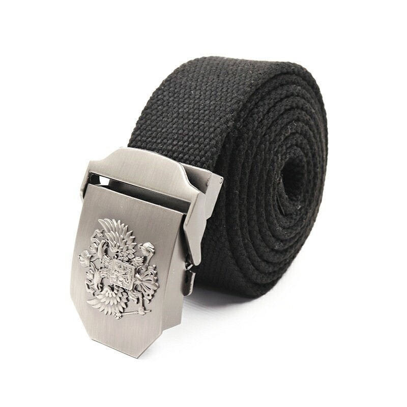 Ремень СЛЕДОПЫТ Герб 1400*36 мм текстиль черный