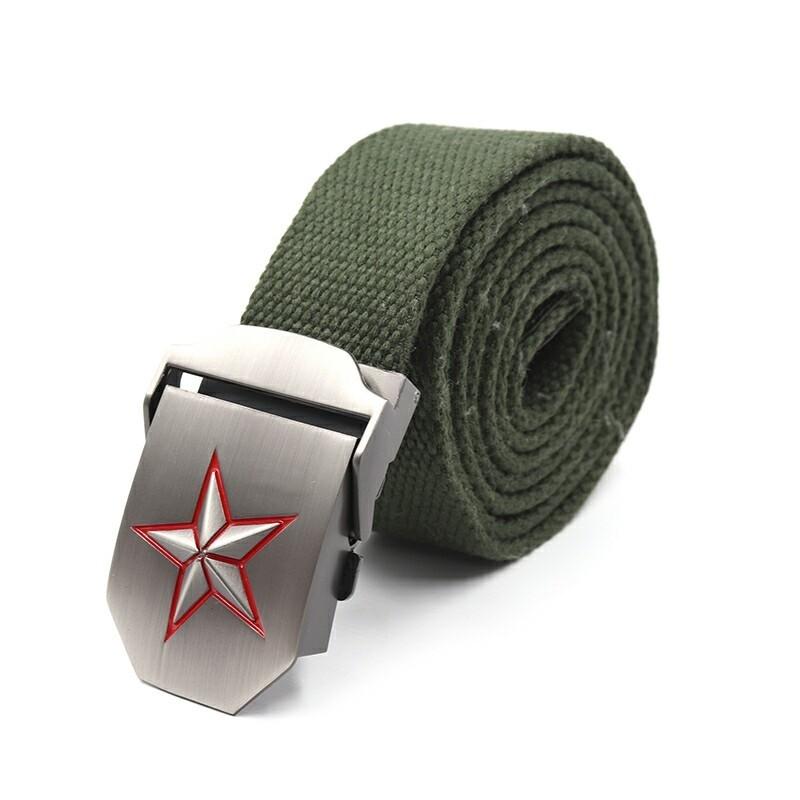 Ремень СЛЕДОПЫТ Звезда 1400*36 мм текстиль зеленый