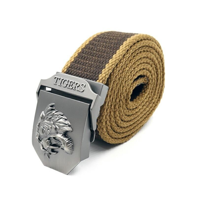 Ремень СЛЕДОПЫТ Тигр 1400*36 мм текстиль коричневый