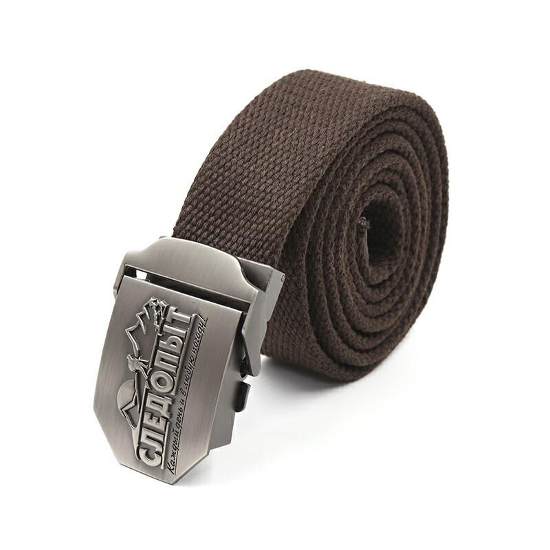 Ремень СЛЕДОПЫТ 1400*36 мм текстиль темно-коричневый