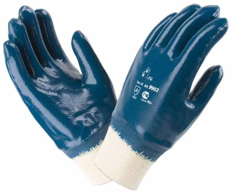 Перчатки НИТРО  нитриловые(полный облив,резинка) 12пар
