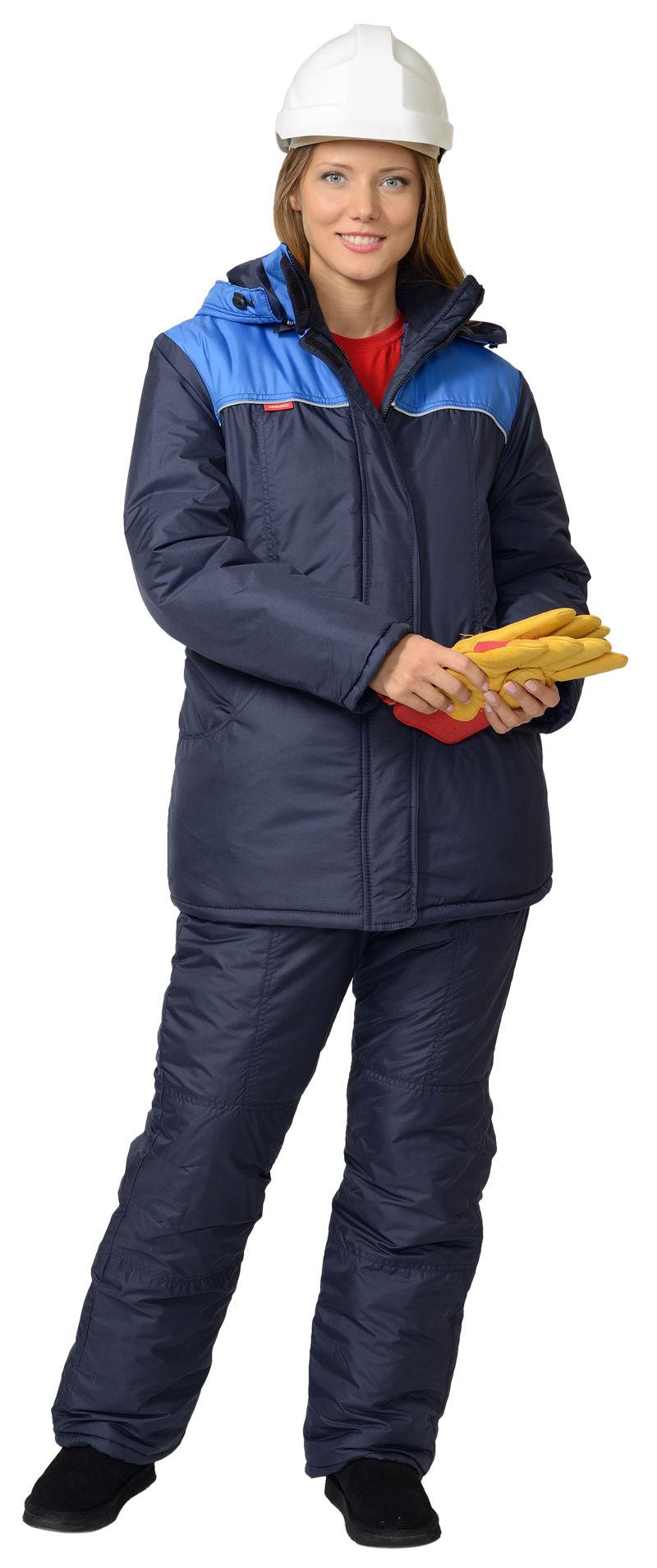 Куртка утеплёная Снежанна цвет синий с васильком