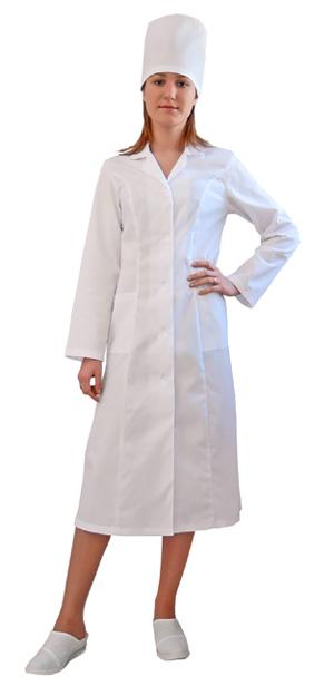 Халат медицинский женский Стандарт белый