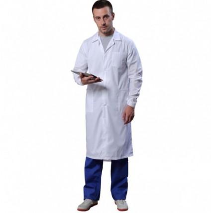 Халат медицинский мужской Стандарт белый