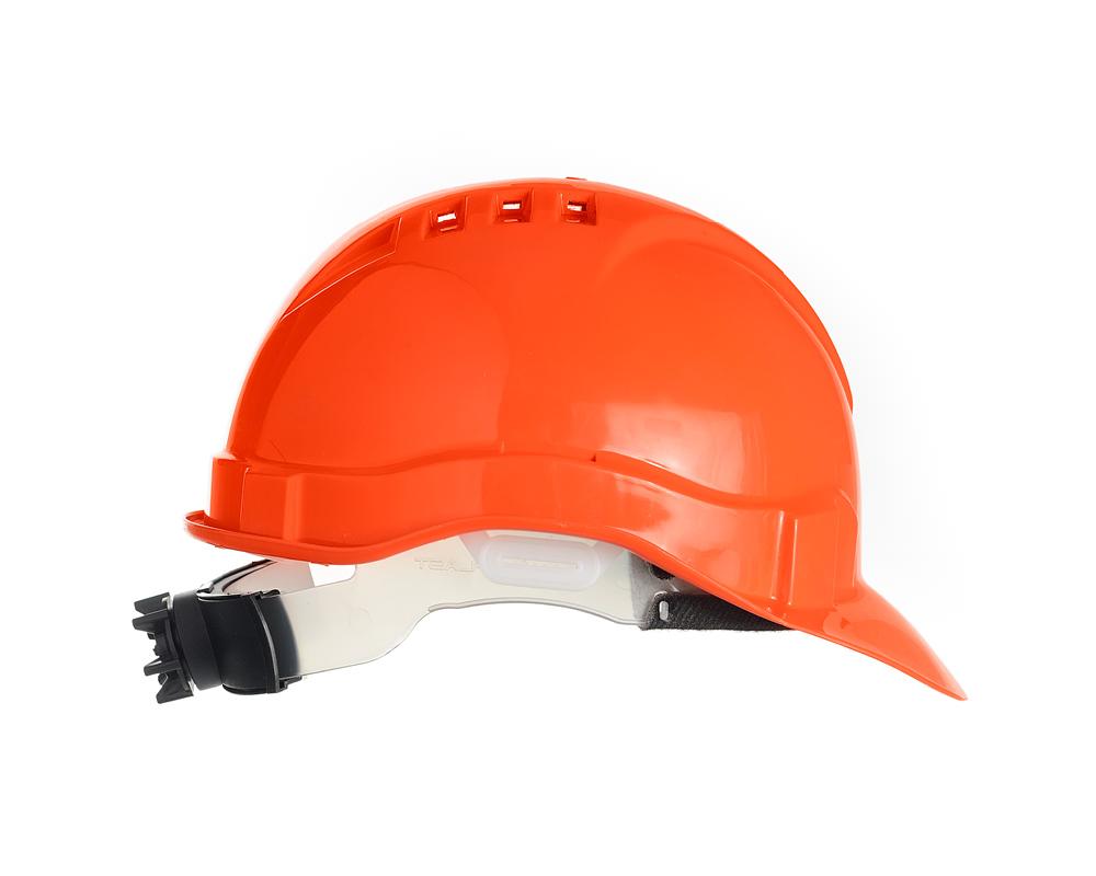 Каска защитная Европа-Люкс храповик (оранжевая)