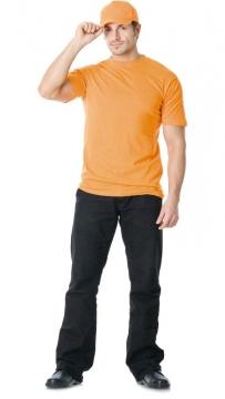Футболка трикотажная 160гр/м2 оранжевая