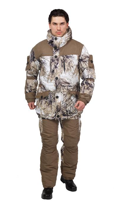 Костюм мужской Донбасс зимний кмф ткань Алова мембрана цвет  Снежный лес